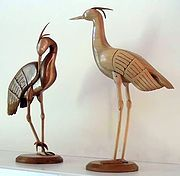Image of carved Cranes
