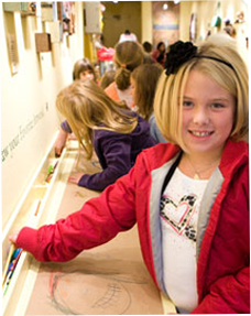 Image of girl at Artmobile
