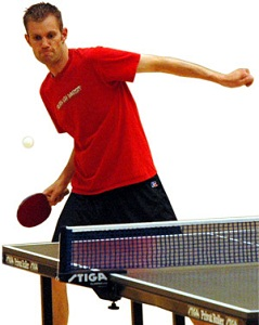 Image of a ping pong player