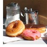 Image of coffee and donuts