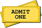 "Image of ""Admit One"" Ticket"