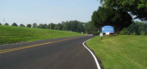 Image of road into campus