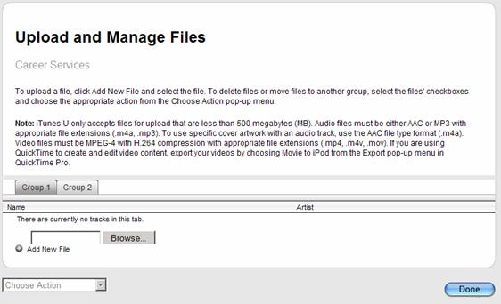 upload manage