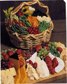 Image of vegetable and cheese table