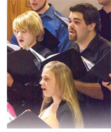 Image of students singing in the choir