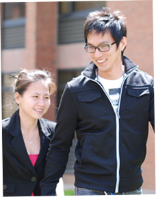 Image of male and female student