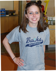 Image of female student wearing Bucks t-shirt