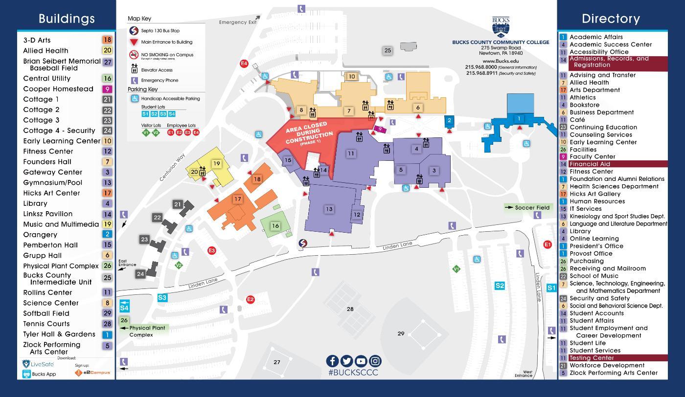 Campus Map | Campus | Bucks County Community College