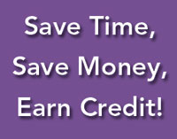 Image of Save Time Save Money Earn Credit