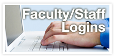 Button used on login information page to access faculty and staff login information